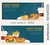 fast food vector illustration.... | Shutterstock .eps vector #337635233