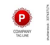 p letter logo  monogram design... | Shutterstock .eps vector #337637174