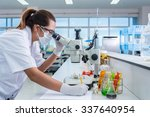 serious clinician studying... | Shutterstock . vector #337640954