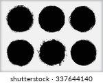 grunge circles.grunge round...   Shutterstock .eps vector #337644140