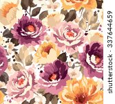 beautiful seamless floral... | Shutterstock .eps vector #337644659