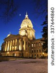 Small photo of State Capitol of Illinois in Springfied. Springfield, Illinois, USA.