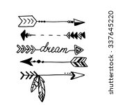 tribal arrows isolated on white.... | Shutterstock .eps vector #337645220