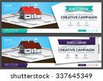 banners or cover for website... | Shutterstock .eps vector #337645349
