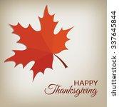 happy thanksgiving card | Shutterstock .eps vector #337645844