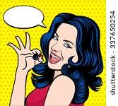 vintage pop art vector... | Shutterstock . vector #337650254
