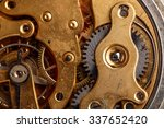 closeup view of old clock's... | Shutterstock . vector #337652420