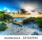 Shining Sun At Sunset In Maria...
