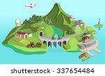 eco island | Shutterstock . vector #337654484