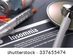 diagnosis   insomnia. medical... | Shutterstock . vector #337655474