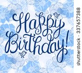 happy birthday greeting card...   Shutterstock .eps vector #337657388