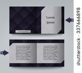 brochure template with abstract ... | Shutterstock .eps vector #337666898