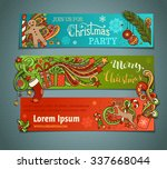 vector set of colorful... | Shutterstock .eps vector #337668044