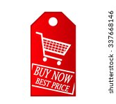 buy now shop cart vector tag | Shutterstock .eps vector #337668146