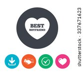 best boyfriend sign icon. heart ... | Shutterstock .eps vector #337671623