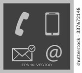 contact buttons set   email ...   Shutterstock .eps vector #337672148