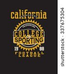 athletic california typography  ... | Shutterstock .eps vector #337675304