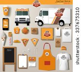 vector food truck corporate... | Shutterstock .eps vector #337675310