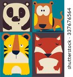 cute animal set | Shutterstock .eps vector #337676564