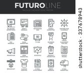 modern thin line icons set of... | Shutterstock .eps vector #337678943