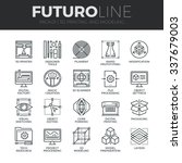 modern thin line icons set of... | Shutterstock .eps vector #337679003