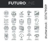 modern thin line icons set of... | Shutterstock .eps vector #337679009