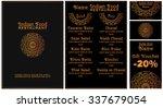menu for a restaurant of pan... | Shutterstock .eps vector #337679054