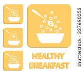 breakfast cereals or snacks in... | Shutterstock .eps vector #337690253