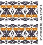 tribal navajo seamless pattern. ... | Shutterstock .eps vector #337699346
