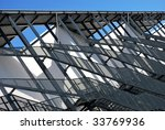 External fire escapes on a modern building - stock photo