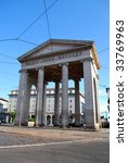 Ancient city entrance Porta Ticinese, Milan, Italy - stock photo