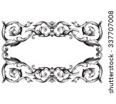 vintage baroque frame scroll... | Shutterstock .eps vector #337707008