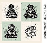 retro vintage minimal merry... | Shutterstock .eps vector #337713563