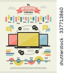 set of retro vintage... | Shutterstock .eps vector #337713860