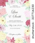 wedding floral invitation.... | Shutterstock .eps vector #337716230