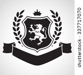 coat of arms   shield with lion ... | Shutterstock .eps vector #337717070