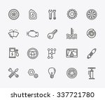 outline icons. car parts and...