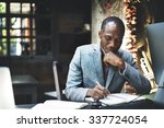 african man working determine... | Shutterstock . vector #337724054