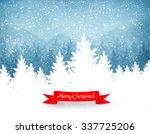 winter landscape background... | Shutterstock .eps vector #337725206