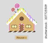lovely sweet candy house ... | Shutterstock .eps vector #337725509