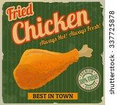 fried chicken retro poster in... | Shutterstock .eps vector #337725878