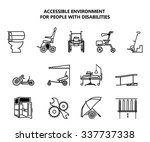Set Of Icons On Accessible...