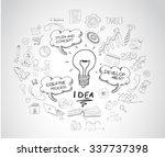idea concept with light bulb... | Shutterstock . vector #337737398