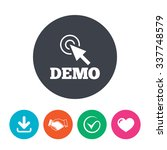 demo with cursor sign icon.... | Shutterstock .eps vector #337748579