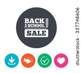 back to school sign icon. back... | Shutterstock .eps vector #337748606