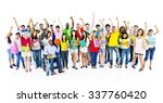diverse group of student... | Shutterstock . vector #337760420