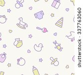 seamless pattern. pastel colors....   Shutterstock .eps vector #337763060