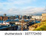 oslo skyline with port in... | Shutterstock . vector #337772450