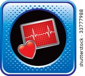 heart monitor on glossy web... | Shutterstock .eps vector #33777988