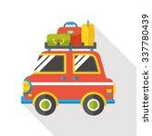 travel camp van flat icon   Shutterstock .eps vector #337780439